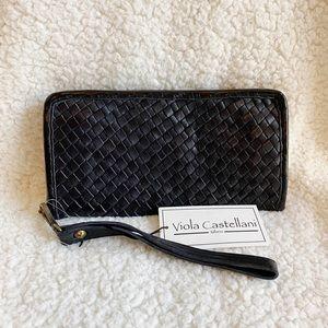 NEW♦️Oversized Italian Leather Wristlet Wallet